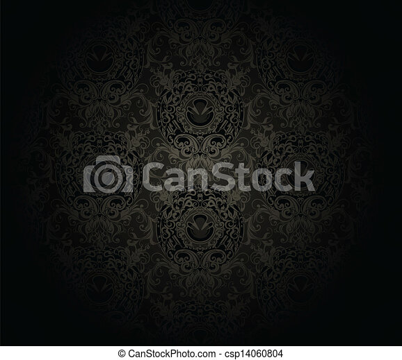 Seamless wallpaper pattern, vector - csp14060804