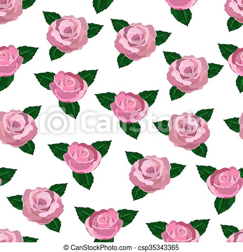 Seamless Wallpaper Pink Roses