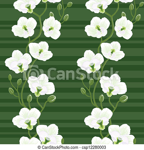 Seamless wallpaper with orchids - csp12280003
