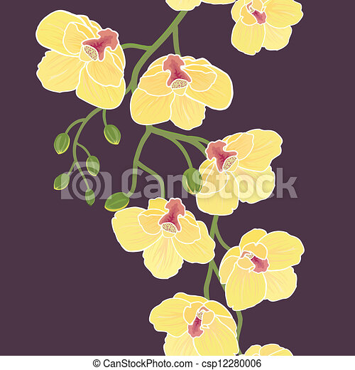 Seamless wallpaper with orchids - csp12280006