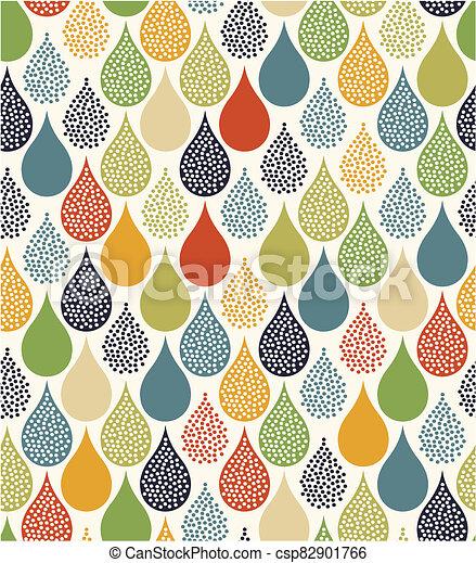 seamless water drops pattern - csp82901766