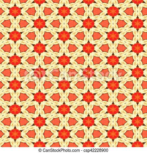 Seamless Watercolour Floral Pattern - csp42228900