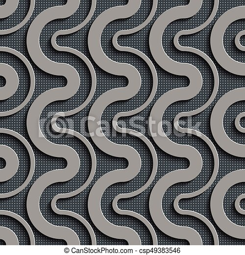 seamless wave pattern curved shapes background regular gray texture rh canstockphoto com Wave Border Clip Art Water Waves Clip Art