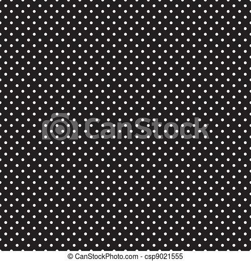 Seamless white polka dots on black csp9021555