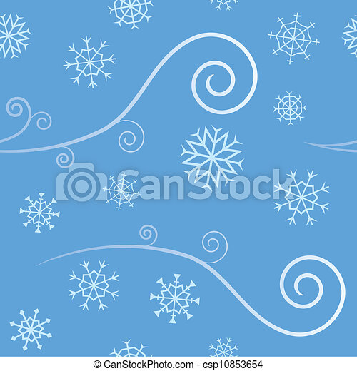 Seamless Wind and Snow - csp10853654