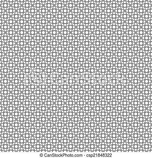 Seamless Wired Fence. Vector Background Texture - csp21848322