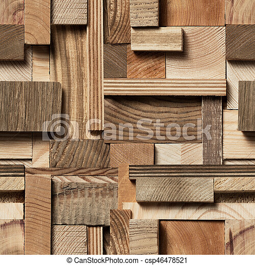 seamless wood block background csp46478521