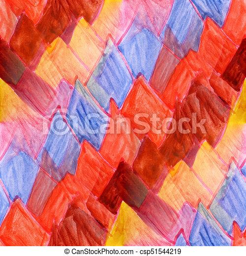 Seamless Yellow Brown Dark Blue Pink Watercolor Artist Wallpa