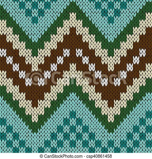 Seamless Zigzag Knitting Pattern Seamless Zigzag Knitting