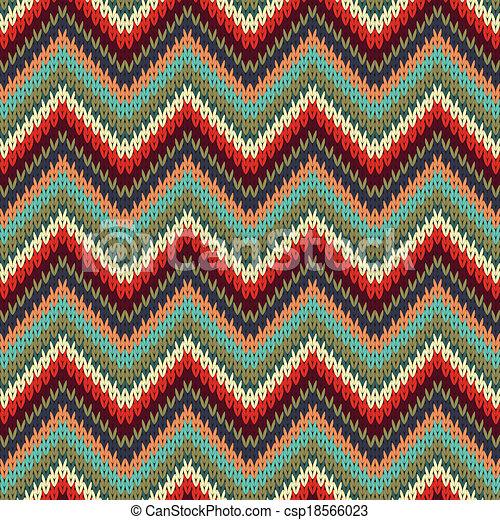 Seamless Zigzag Knitting Pattern Seamless Zigzag Knitting Pattern