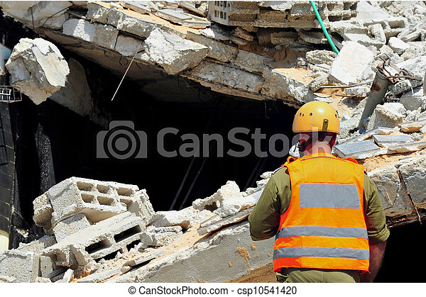 Search and Rescue Through Building Rubble after a Disaster - csp10541420