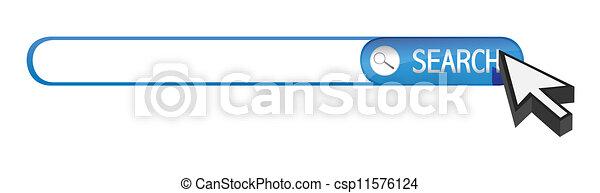 search bar and cursor - csp11576124