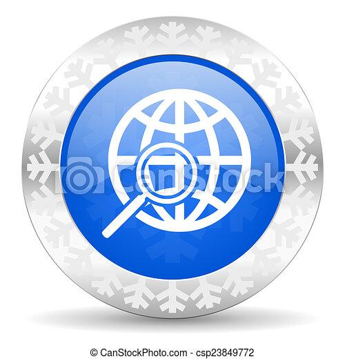 search blue icon, christmas button - csp23849772