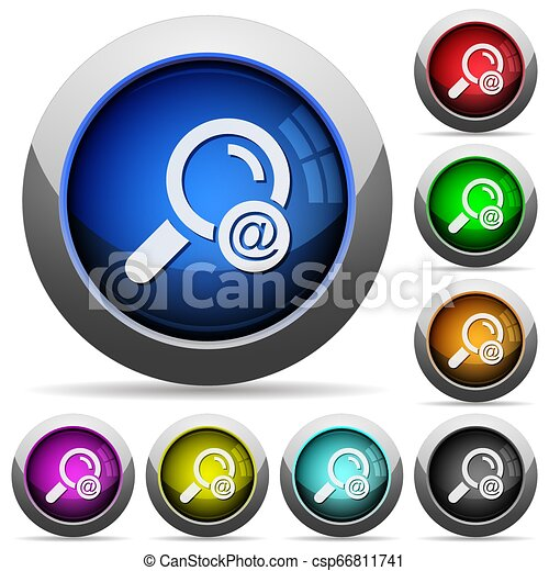 Search email address round glossy buttons - csp66811741