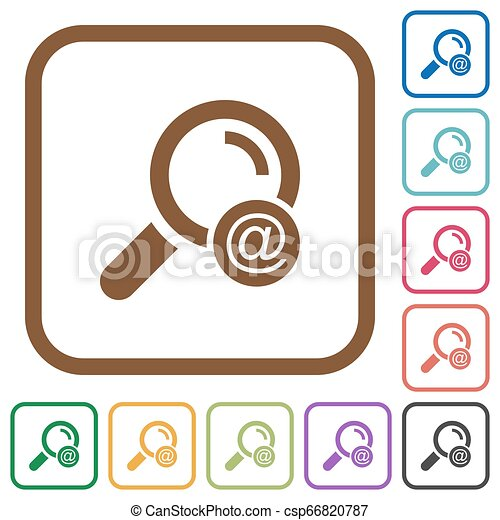 Search email address simple icons - csp66820787