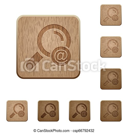 Search email address wooden buttons - csp66792432