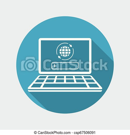 Search engine on laptop - csp67506091