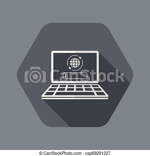 Search engine on laptop - csp69291227