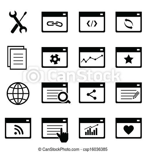 Search engine optimization icon set - csp16036385