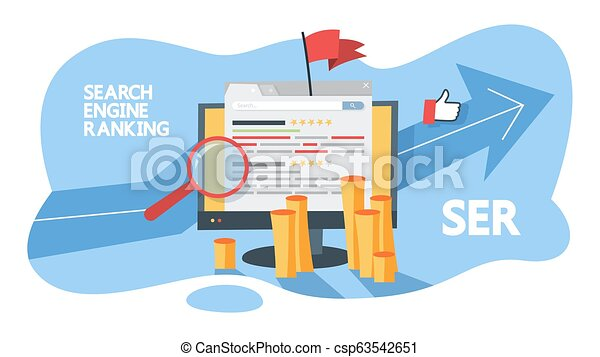 Search engine ranking concept. Evaluate web page - csp63542651