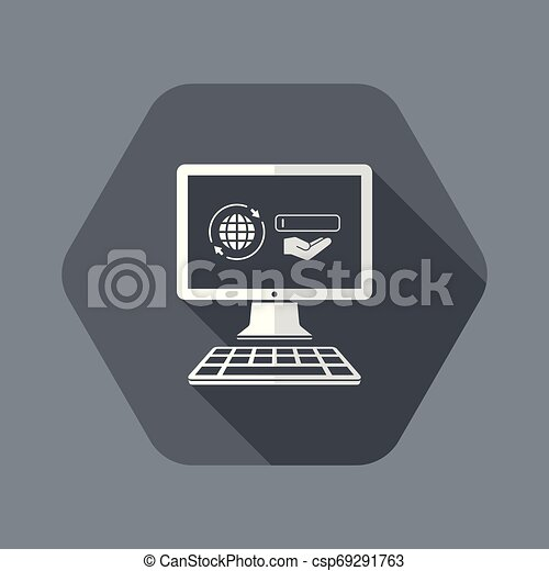 Search engine service on laptop - csp69291763