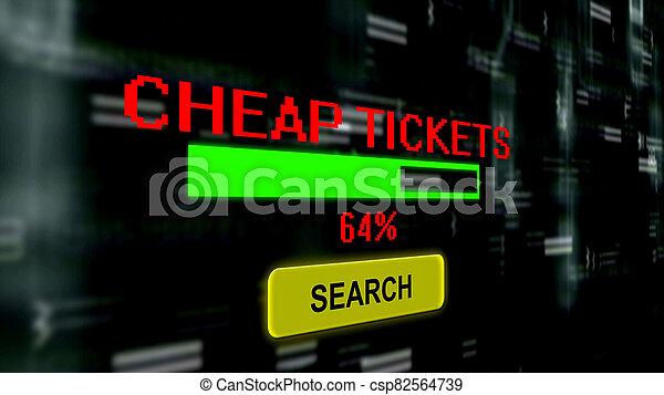Search for cheap tickets progress bar - csp82564739