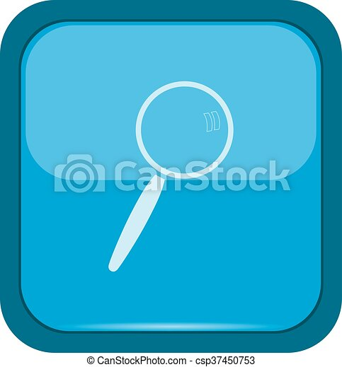 Search icon on a blue button - csp37450753