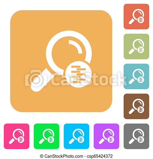 Search in compressed files rounded square flat icons - csp65424372