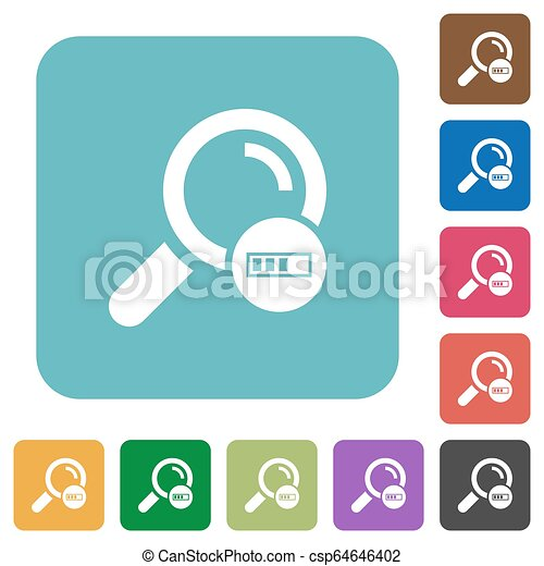 Search in progress rounded square flat icons - csp64646402
