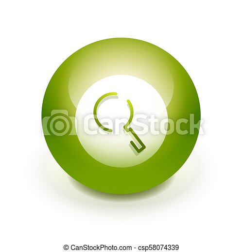 Search magnifyier web button, magnify icon. Modern magnifying glass sign, web site design or mobile app - csp58074339