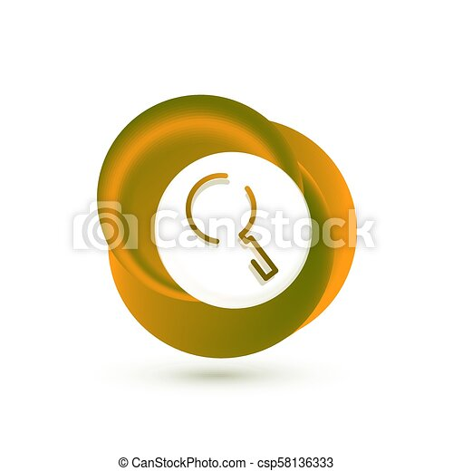 Search magnifyier web button, magnify icon. Modern magnifying glass sign, web site design or mobile app - csp58136333
