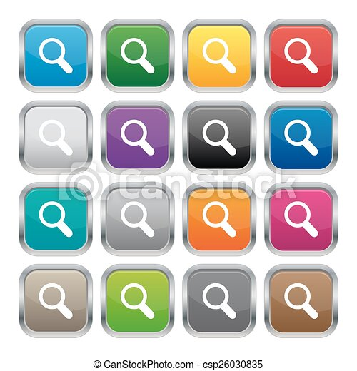 Search metallic square buttons - csp26030835