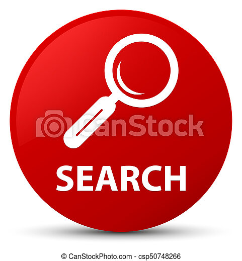 Search red round button - csp50748266