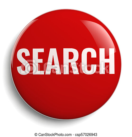 Search Red Round Symbol Isolated - csp57026943