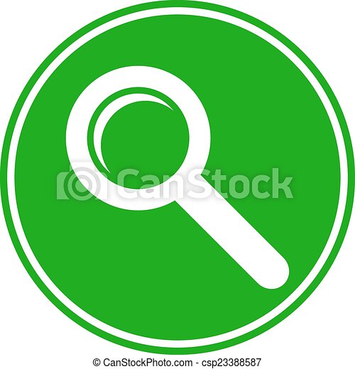 Search sign button - csp23388587