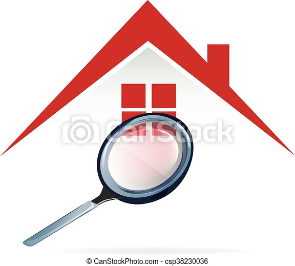 Searching a house logo - csp38230036