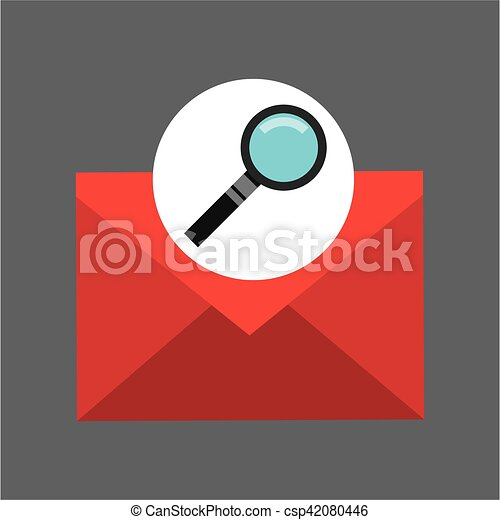 searching email message icon graphic - csp42080446