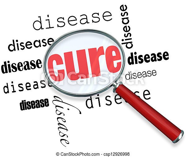 Searching for a Cure - Magnifying Glass - csp12926998
