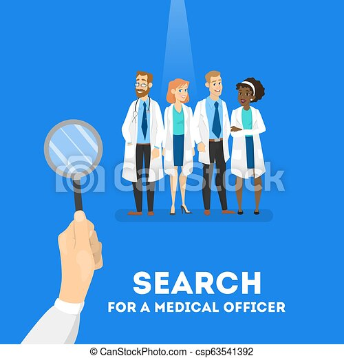 Searching for a doctor concept. Hospital worker need. - csp63541392