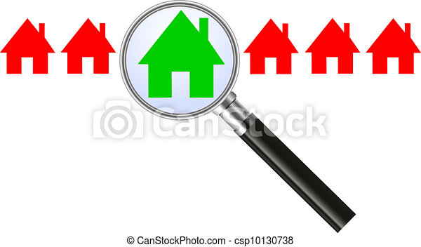 Searching for a house - concept - csp10130738