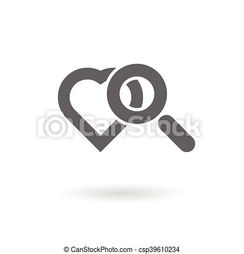 Magnifying Glass With Heart Symbols As Searching For Love Icon
