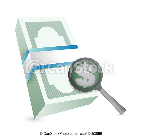 searching for profits concept - csp13453896