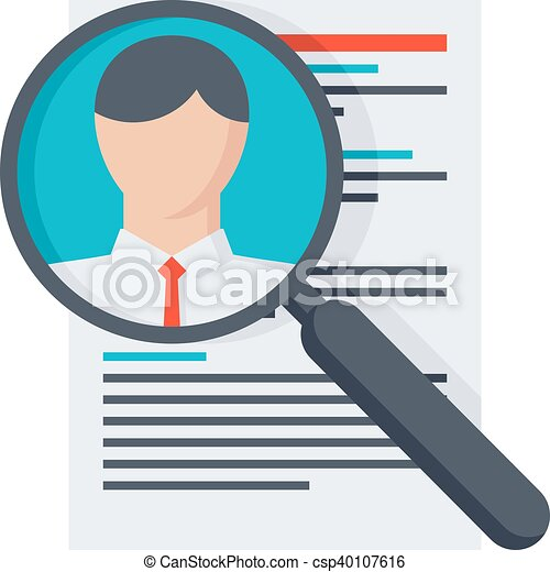 Searching professional staff. Analysing resume personnel or ...