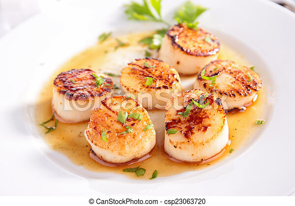 seared scallop - csp23063720