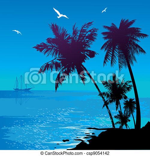 seascape. - csp9054142