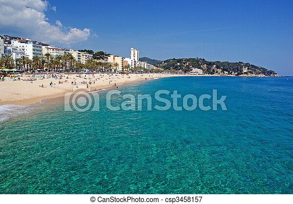 Seascape of Lloret de Mar beach, Spain. More in my gallery. - csp3458157