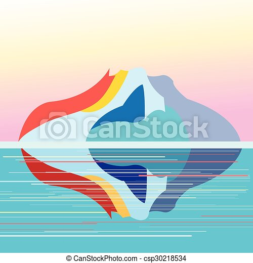 seascape on the background of  island - csp30218534
