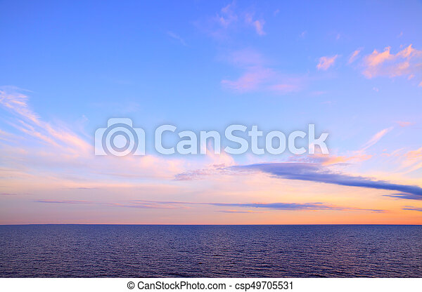 Seascape with sea horizon - csp49705531