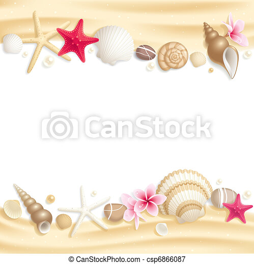Seashell frame - csp6866087