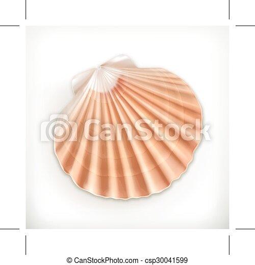 Seashell, icon - csp30041599